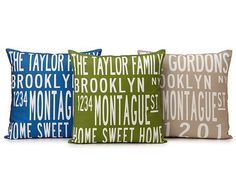 Custom family pillows