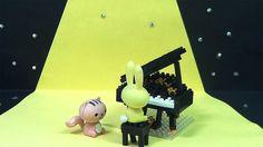 Micro Piano Block Dog Mickey Angry Birds Spongebob Donald Duck Toys Doll...