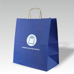 Kraftpapiertasche mit Siebdruck