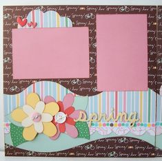 scrapbook layouts | Spring Premade 2 Page 12x12 Scrapbook Layout