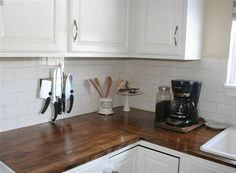 The owner created these wood countertops for only $195!