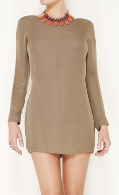Olcay Gulsen Taupe Dress