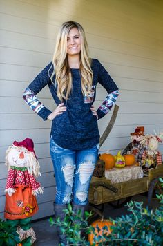"""Watch Me Sparkle Top """"Navy Color"""" - Forever Fab Boutique Fall Fashion Women's Clothing Outfit Ideas #ootd #fallfashion"""