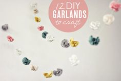 This flower garland is so cute! It is from the same website as the snowcone garland, too.