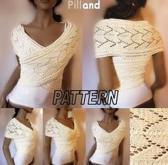 Knitting Pattern Lace Knit sweater Womens vest PDF Instant