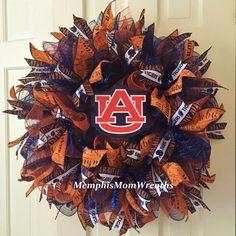 Auburn University Deco Mesh Wreath  Deco Mesh by MemphisMomWreaths