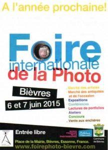 Bievre / France - Foire internationale de la photo les 06 et 07 juin 2015