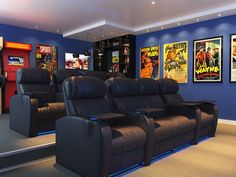 Home Theater Design, Home Theater Seating, Theater Seats, Movie Theater Rooms, Movie Rooms, Cinema Room, Movie Theater Basement, Home Bar Designs, Build Your Own House