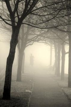 a foggy day, in London town...