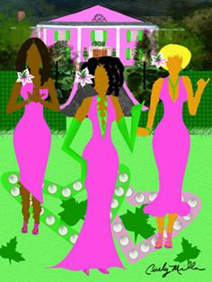 AKA in Pearls by Cicelys Jazzy Art