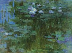 Painting Title: Nympheas - (Water-Lilies) 1914-17  Claude Monet  About the Water Lilies Painting  From his famous series of paintings that Monet did of his garden is the water lily series.