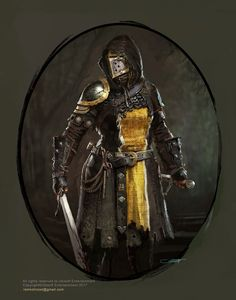ArtStation - For Honor The Peacekeepers, Remko Troost Metal and leather armour with gold embellishment. Broad sword knight or warrior. RPG character inspiration for fighters Fantasy Male, Fantasy Armor, High Fantasy, Medieval Fantasy, Fantasy Inspiration, Character Inspiration, Character Portraits, Character Art, Illustration Fantasy