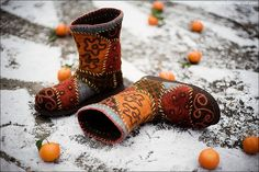 handmade felted shoes - Pesquisa Google