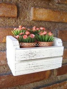 Floreira de caixote