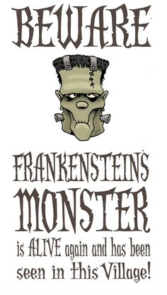 DAVE LOWE DESIGN the Blog: 4th Day of Halloween - Monster Warning Signs