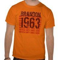 1963 Vintage Year 50th Birthday T-shirts from Zazzle.com. #tees #tshirt #sweatshirt #hoodie #longsleeve #shortsleeve #50th #1963 #customize #birthday