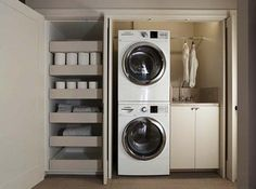 "Outstanding ""laundry room storage diy small"" info is offered on our web pages. Read more and you wont be sorry you did. Basement Laundry, Laundry Closet, Laundry Room Organization, Laundry In Bathroom, Laundry Area, Hidden Laundry, Laundry Decor, Bathroom Storage, Concealed Laundry"
