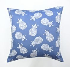 Pineapple cushion cover pineapple pillow blue by HenriettaAndMorty, $29.95