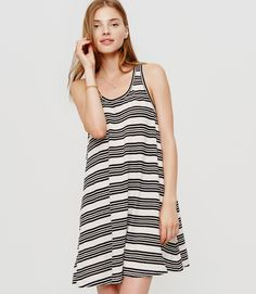 Primary Image of Lou & Grey Striped Tank Dress by LOFT 55% Linen and 45% cotton
