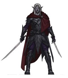 m Drow Elf Ranger Royal Constable Leather Cloak 2 Weapons underdark sewer urban jungle mountains midlvl