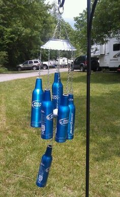 Beer bottle wind chimes