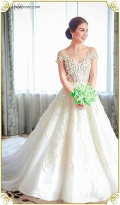 Kaye Abad and Paul Jake Castillo's Behind-the-Scenes and Official Wedding Pics: My Story Perfect Wedding Dress, Dream Wedding Dresses, Bridal Dresses, Wedding Gowns, Bridesmaid Dresses, Wedding Bouquets, Francis Libiran Wedding Gown, Wedding Pics, Party Dresses