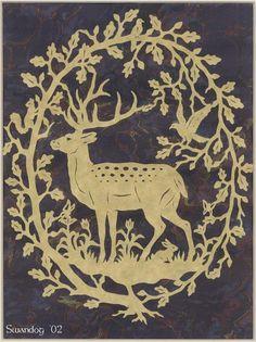 Deer and Oak Papercutting by ~swandog on deviantART