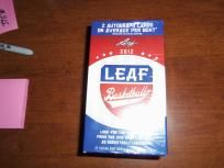 Box Of 2012 Leaf Football With Two Garanteed AutoGraphs Football Trading Cards, Online Business, Box, Snare Drum, Boxes
