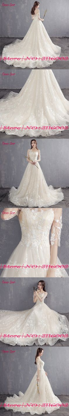 Taoo Zor Luxury Emproidery Lace Princess A Line Cut-out Wedding Dresses 2017  Half Sleeves Appliques Bride Gown Robe De Mariage b491ccb14e86