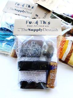 Black Fiber Bundle  ACEO Card Kit DIY Fiber by TheSupplyDestash