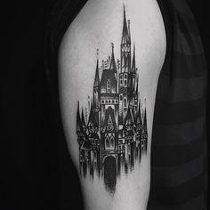 Tattoo Vintage, Classic Tattoo, Blackwork, Castle, Castles