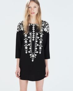 EMBROIDERED TUNIC-Dresses-WOMAN | ZARA United States