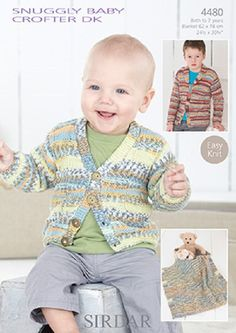 Knitting Pattern Baby cardigan and blanket Dk  sirdar 4480  size 0-7yrs  new by Bobbinswool on Etsy