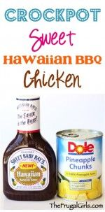 Crockpot Sweet Hawaiian BBQ Chicken Recipe from TheFrugalGirls.com