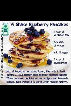 BlueBerry Pancakes using Vi Shape Mix