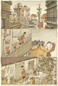 Moving Day (Original Comic Page) 432mm (h) x 279mm (w) Pencil on Paper Sonny Lie 집으로 가는길