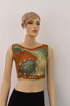 Multicolor Freeform Crochet Tank Top Summer di levintovich, $85.00