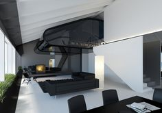 Laisves Avenue apartment by Simonas Slucka, via Behance