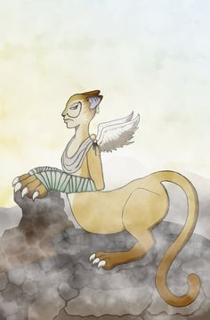 A sphinx I drew. I was practicing cell shading and gradients.