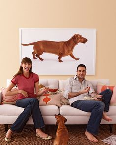 Bigger than life-size art: photo of your pet enlarged. White background makes it pop
