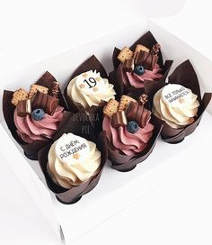 Fancy Cupcakes, Yummy Cupcakes, Pretty Cakes, Cute Cakes, Mini Cakes, Cupcake Cakes, Cupcake Recipes, Dessert Recipes, Buttercream Cupcakes