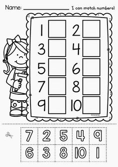 Cut and Paste Worksheets Kindergarten. 20 Cut and Paste Worksheets Kindergarten. Free Printable Cut and Paste Worksheet for Kindergarten Numbers Preschool, Learning Numbers, Math Numbers, Preschool Printables, Preschool Kindergarten, Preschool Worksheets, Preschool Learning, Teaching Math, Preschool Activities