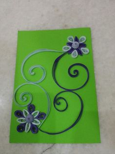 Awsome card with 3mm paper  By Hajra