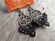 Hippiechic elven black handwoven earrings by creationsmariposa, $20.00