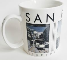 Starbucks San Francisco City Scenes 2003 Barista Coffee Mug Cup 18 oz NEW #Starbucks