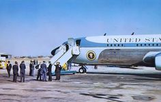 Air Force One at Love Field, waiting the presidential party to return. Robert Kennedy, Jackie Kennedy, John Connally, Texas Governor, Kennedy Assassination, Jfk Jr, John Fitzgerald, Memorial Hospital, Us Government