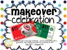 Makeover Celebration Giveaway! Win a Target or Starbucks Gift Card