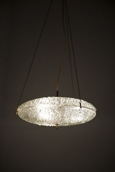 Carl Fagerlund ceiling lamp by Orrefors at Studio Schalling