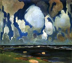 Clouds over Fnland - Konrad Krzyzanowski  ca. 1908