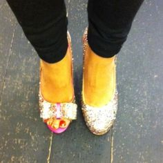 Not all sparkly heels are the same.
